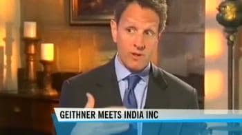 Video : Geithner lauds Indian banking innovation