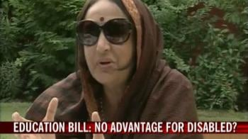 Video : Right to Education Bill: No advantage for disabled?