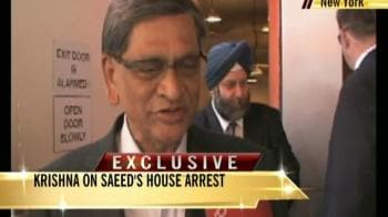 Video : Saeed's arrest not enough: Krishna