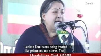 Video : Lankan Tamils treated like slaves: Jayalalithaa