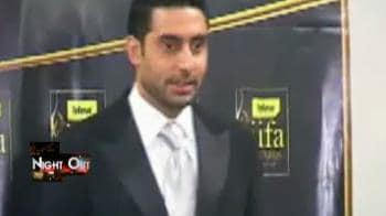 Video : Abhishek in a playful mood at IIFA