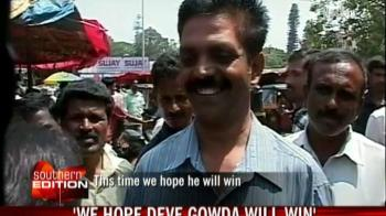 Video : Hassan supports Deve Gowda