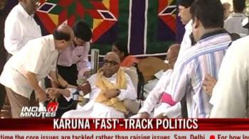 Video : Karunanidhi resorts to 'fast'-track politics