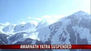 Video : Bad weather disrupts Amarnath yatra