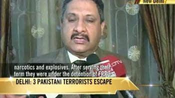 Video : 3 Pakistani terrorists escape en route Delhi hospital