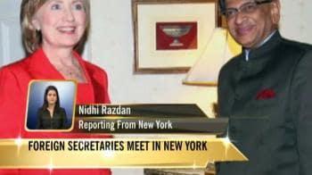 Video : Indo-Pak Foreign Secretaries meet in New York