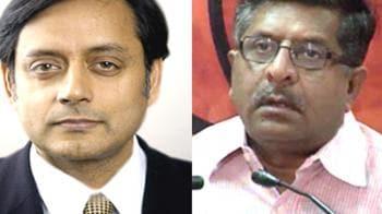 Video : BJP demands PM sack Tharoor, Congress distances itself