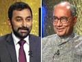 Video: Digvijaya's faint praise for PM, Chidambaram