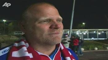 Fans reaction after USA draw against Slovenia